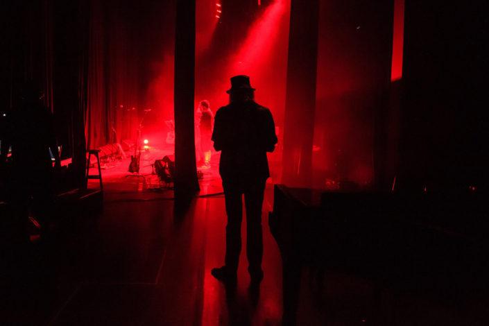 Zé Geraldo nos bastidores do show no Sesc Belenzinho